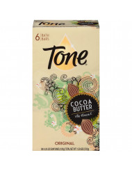 (PACK OF 6 BARS) Tone Soap Bath Bar, Original Scent. COCOA BUTTER, BOTANICALS & VITAMIN-E. Rich & Creamy Lather! Great for Hands, Face & Body! (6 Bars of Soap, 4.25oz Each Bar)
