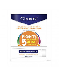 Clearasil Stubborn Acne Control 5 in 1 Spot Treatment Cream, 1 oz