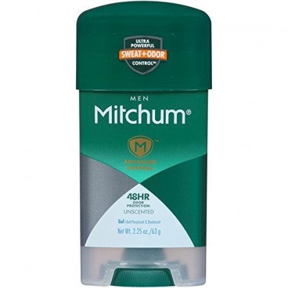 Mitchum Clear Gel Anti-Perspirant & Deodorant, Unscented for Men, 2.25 oz