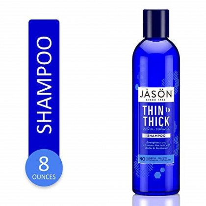 JASON Thin-to-Thick Extra Volume Shampoo, 8 Ounce Bottle
