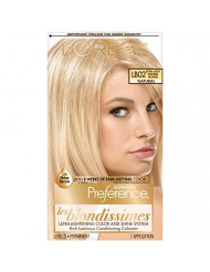 L'Oreal Paris Superior Preference Fade-Defying + Shine Permanent Hair Color, LB02 Extra Light Natural Blonde, 1 kit Hair Dye