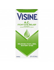 Visine A.C. Astringent Redness Reliever Eye Drops - 0.5 Oz (15 Ml)