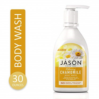 Jason Natural Body Wash and Shower Gel, Relaxing Chamomile,  30 oz