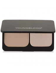 Youngblood Clean Luxury Cosmetics Pressed Mineral Foundation, Barely Beige   Pressed Face Powder Mineral Foundation Oil Shine Control Mattifying   Cruelty-Free, Paraben-Free