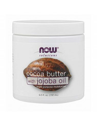 NOW Solutions, Cocoa Butter with Jojoba Oil, Multi-Purpose Oil, 6.5-Ounce
