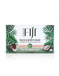 Coco Fiji, Coconut Oil Infused Soap, Tea Tree Spearmint 7oz