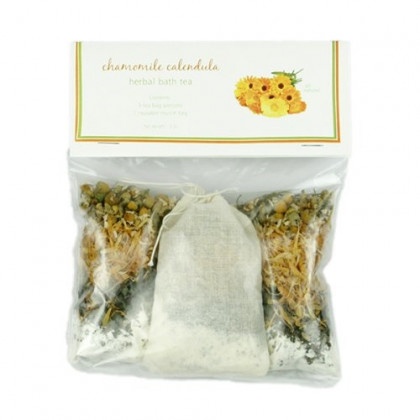 Herbal Sitz Bath Postpartum Care - Aromatherapy Bath Soak for Stress Relief, Pregnancy, Sore Muscles, Relaxation, New Mom Gifts - Postpartum Kit of 1 Bath Tea Bag and 2 Refills (Chamomile Buttermilk)