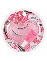 KOJI Spring Heart False Eyelashes, #1 Natural