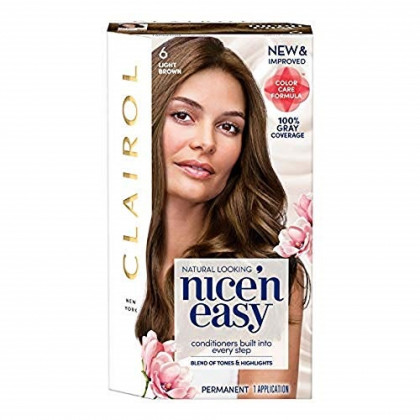 CLAIROL Nice 'n Easy Permanent Color, [6] Light Brown 1 ea