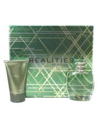 Liz Claiborne Realities Gift Set 3.4 oz Cologne Spray & 4.2 oz After Shave Soother For Men