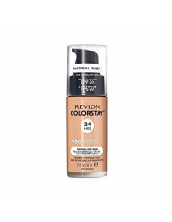 Revlon ColorStay Makeup for Normal/Dry Skin SPF 20, Longwear Liquid Foundation, with Medium-Full Coverage, Natural Finish, Oil Free, 180 Sand Beige, 1.0 oz