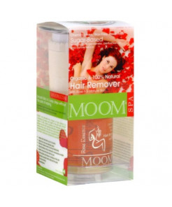 Moom Organic Hair Removal Kit With Rose, 6-Ounce Package