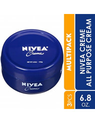 NIVEA Creme - Unisex All Purpose Moisturizing Cream for Body, Face & Hand Care - 6.8 oz. Jar (Pack of 3)