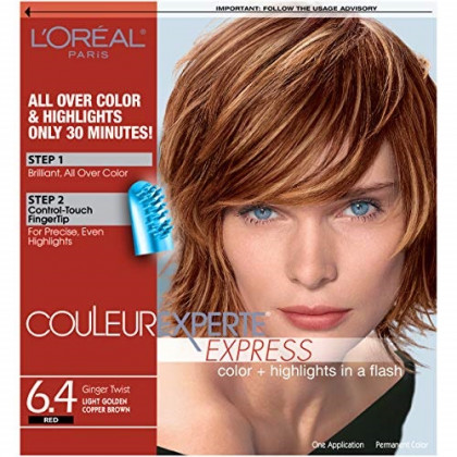 L'Oreal Paris Couleur Experte 2-Step Home Hair Color & Highlights Kit, Ginger Twist