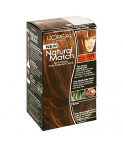 L'Oreal Natural Match No-Ammonia Color-Calibrated Creme, Medium Reddish Chestnut, 5R Red