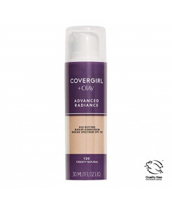 COVERGIRL Advanced Radiance Age Defying Foundation Makeup, Creamy Natural 120, 1 Ounce (Packaging May Vary) Liquid Foundation Base
