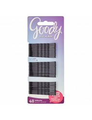 Goody Ouchless Bobby Pin, Crimped Black, 2 Inches, 48 Count (Pack of 1)