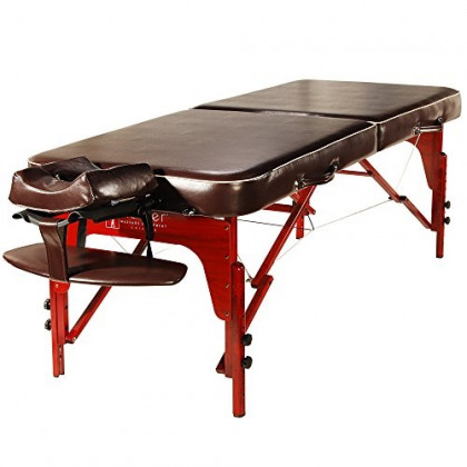 "Master Massage 30"" Monroe Pro Portable Massage Table Package, Brown Luster"