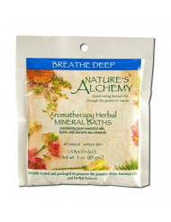 Nature's Alchemy Aromatherapy Herbal Mineral Baths, Breathe Deep, 3 Ounce