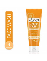 JASON Brightening Apricot Scrubble Face Wash & Scrub, 4 Ounce Bottle