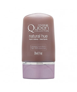COVERGIRL Queen Natural Hue Liquid Makeup True Ebony 755, 1 oz (packaging may vary)