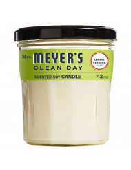 Mrs. Meyer's Clean Day Scented Soy Candle, Lemon Verbena Scent, 7.2 ounce candle