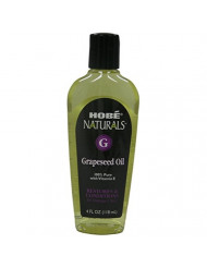 Hobe Labs Hobe Naturals Beauty Oils, 100% Pure Grapeseed Oil With Vitamin E, 4 Oz