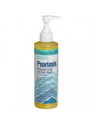 Home Health Psoriasis Medicated Scalp and Body Wash, 8-Ounces (Pack of 2)