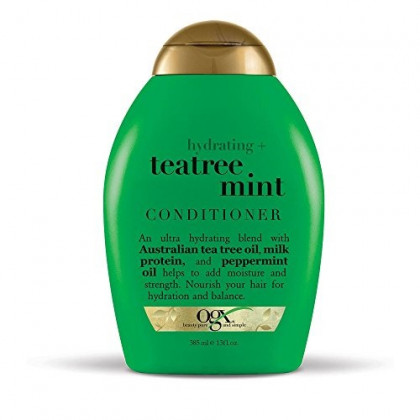OGX Hydrating TeaTree Mint Conditioner, 13 Ounce Bottle, Hydrating and Nourishing Conditioner Infused with Australian Tea Tree Oils