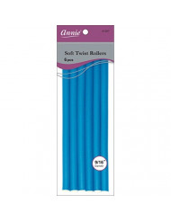 Annie 01207 Soft Twist Rollers, Blue, 6 Count