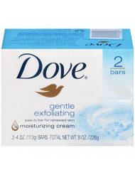 Dove Beauty Bars, Gentle Exfoliating, 2 ct