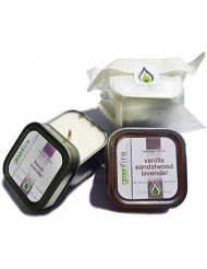 Greenfire All Natural Massage Candles, French Lavender and Lavender Sandalwood Vanilla, Travel Size 2 Fluid Ounce, Set of 2