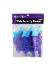 Soft 'N Style Butterfly Clamps, Assorted Colors, 1 Dozen