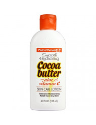 Fruit of the Earth Cocoa Butter with Aloe Lotion, 4 Ounce