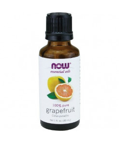 NOW Essential Oils, Grapefruit Oil, Sweet Citrus Aromatherapy Scent, Cold Pressed, 100% Pure, Vegan, 1-Ounce