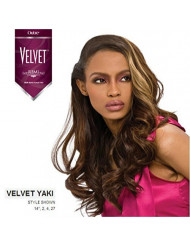 "Outre Velvet Remi 100% Human Hair - Yaki Weaving 12"" Color 1B Off Black"