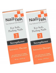 Nail Tek Intensive Therapy 2, Nail Strengthener for Soft and Peeling Nails, 0.5 oz x 2 packs