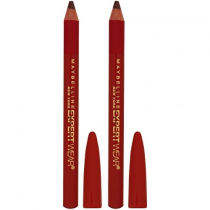 Maybelline New York Makeup Expert Wear Twin Eyebrow Pencils and Eyeliner Pencils, Dark Brown Shade, 0.06 Ounce, 2 Count (Pack of 1)