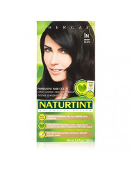 Naturtint Permanent Hair Color, 1N Ebony Black, Plant Enriched, Ammonia Free, Long Lasting Gray Coverage and Radiante Color, Nourishment and Protection