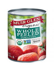 Muir Glen Canned Tomatoes, Organic Whole Peeled Tomatoes, No Sugar Added, 28 Ounce Can (Pack of 12)