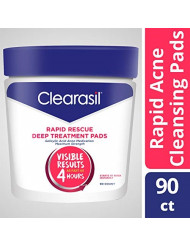 Clearasil Ultra Rapid Action Facial Cleansing Pads, 90 Count