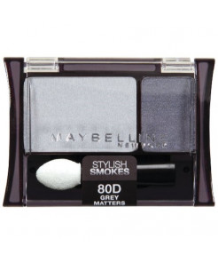 Maybelline New York Expert Wear Eyeshadow Duos, 80d Grey Matters Stylish Smokes, 0.08 Ounce