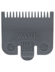 """Wahl Professional Color Coded Comb Attachment #3137-101 - Grey #1/2 - 1/16"""" (1.5 mm) - Great for Professional Stylists and Barbers"""