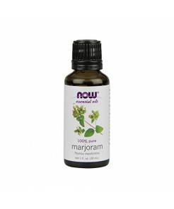 NOW Essential Oils, Marjoram Oil, Normalizing Aromatherapy Scent, Cold Pressed, 100% Pure, Vegan, 1-Ounce