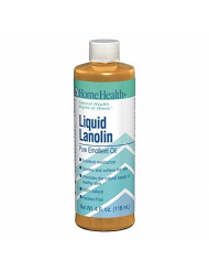 Home Health Liquid Lanolin - 4 fl oz - 100% Pure & Natural Emollient Oil, Moisturizes, Soothes, Hydrates & Softens Skin, Hair & Lips - Non GMO, Paraben-Free, Fragrance-Free