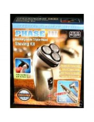 MEN'S PLATINUM SERIES RECHARGEABLE TRIPLE HEAD SHIVING KIT