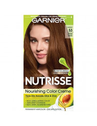 Garnier Nutrisse Nourishing Hair Color Creme, 53 Medium Golden Brown (Chestnut) (Packaging May Vary)