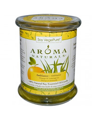 Aroma Naturals, Soy Vegepure, Soy Pillar Candle, Ambiance, Orange & Lemongrass, 3 in x 3.5 in