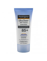 Neutrogena Ultra Sheer Dry-Touch Water Resistant and Non-Greasy Sunscreen Lotion with Broad Spectrum SPF 85, 3 fl. oz (Pack of 2)