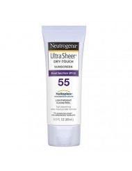 Neutrogena Ultra Sheer Dry-Touch Sunscreen, SPF 55, 3 Ounces (Pack of 2)